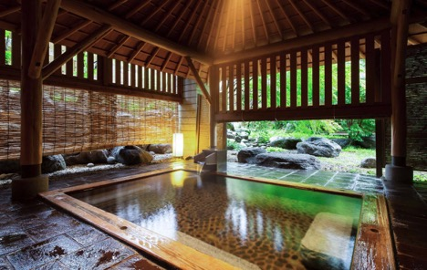 An onsen at Kai Nikko Resort at  Lake Chuzenji , Japan