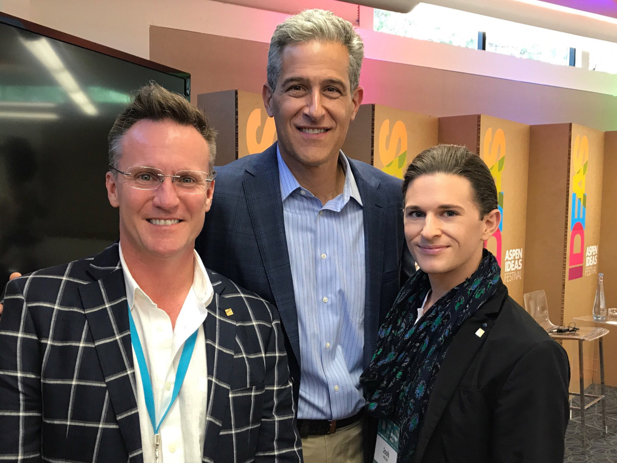 Co-Founders Theo Edmonds and Josh Miller of  IDEAS xLab  with Dr. Richard Besser, CEO of  Robert Wood Johnson Foundation  (RWJF)