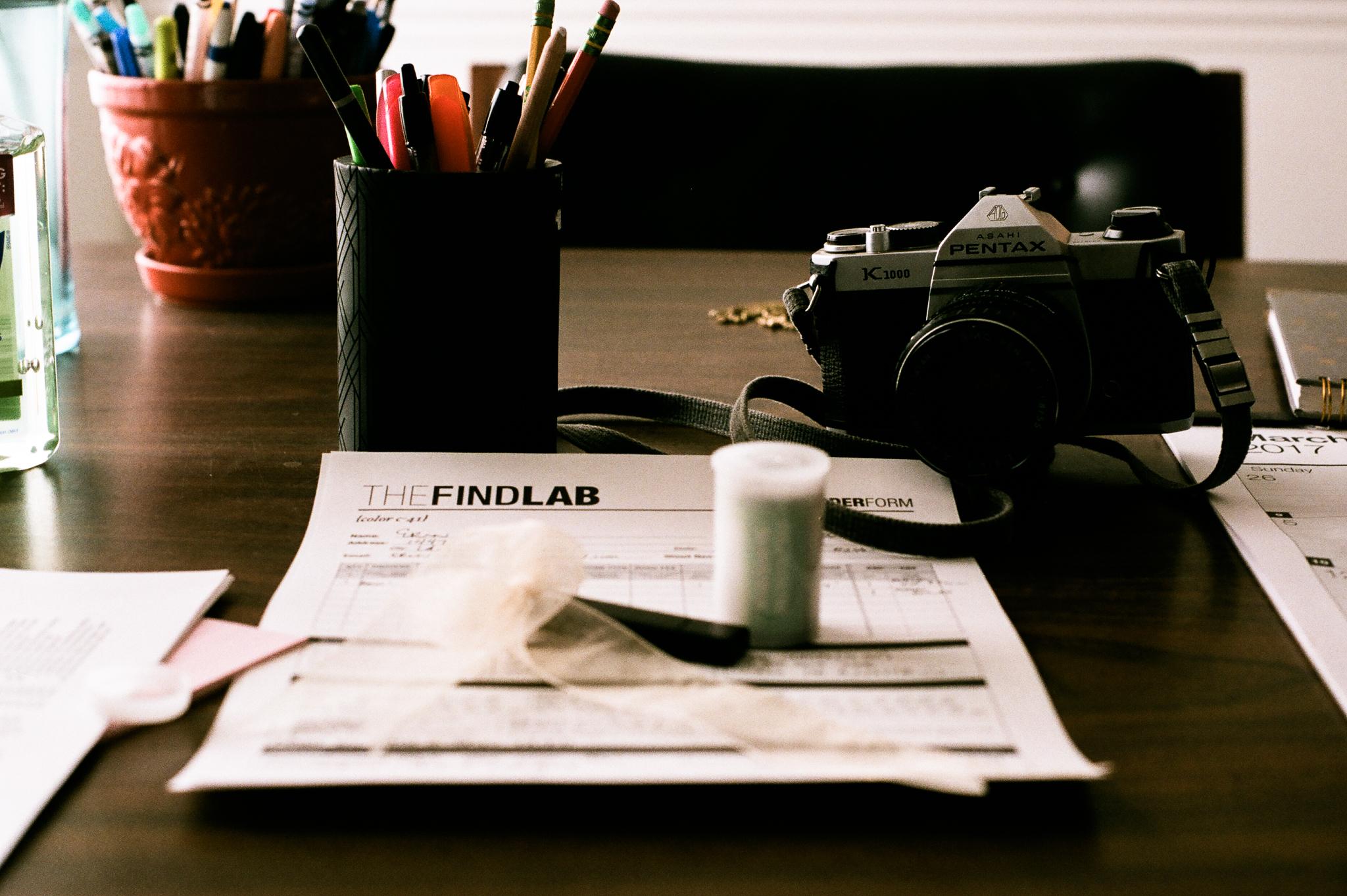 The Find Lab order form. Idaho Avenue Studios