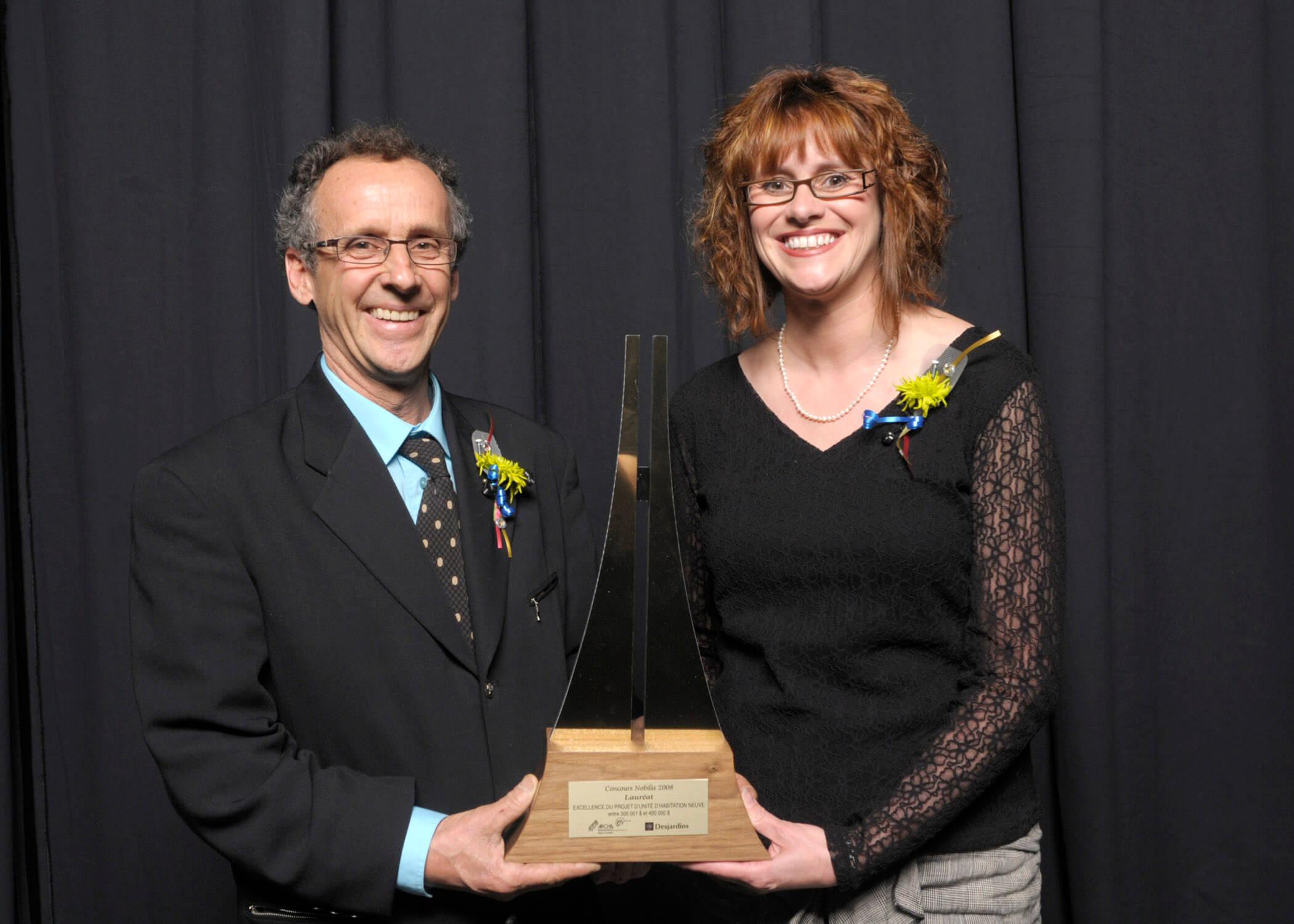 À la remise des prix Nobilis 2008, André LeBlanc propriétaire.