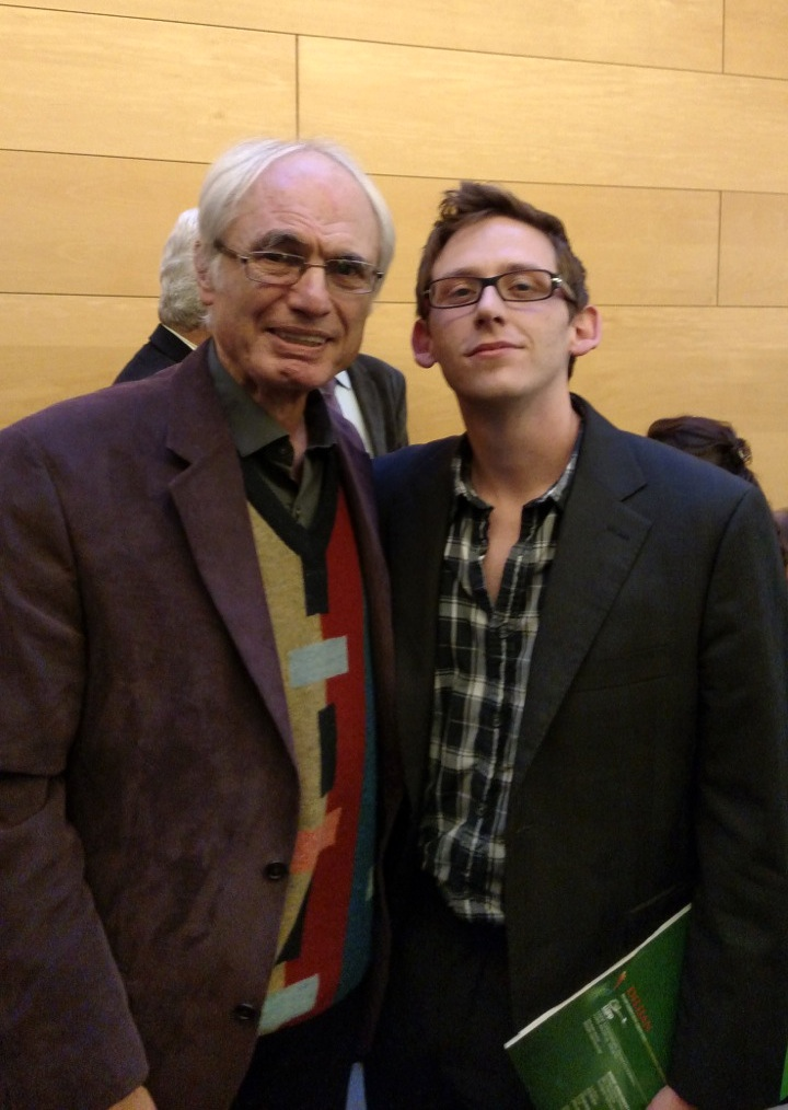 With composer TIgran Mansurian.