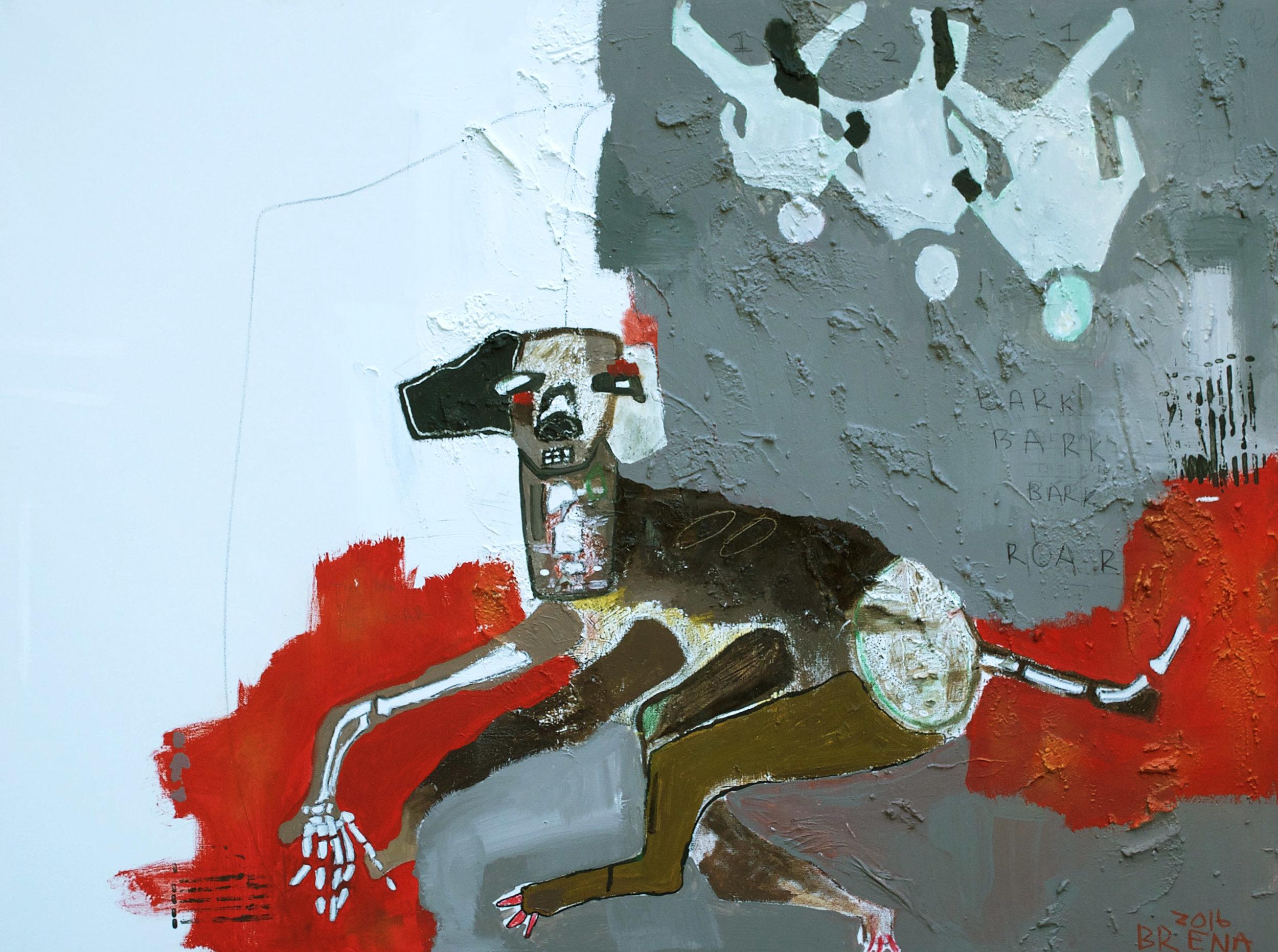 Bark Bark Bark Roar 4' X 3'