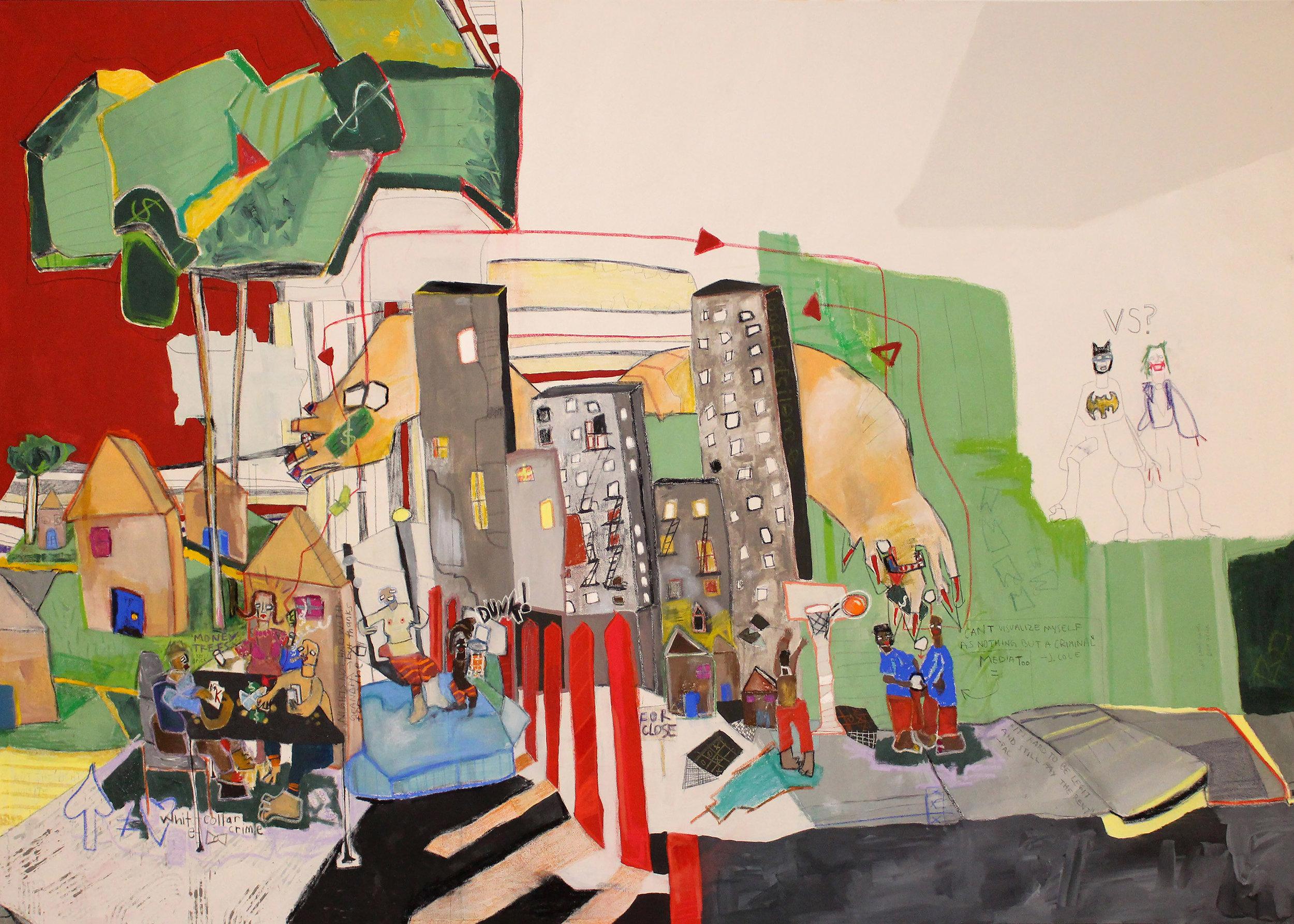 Income Inequality, Imagine Panel 1  8' x 5.5'  Panel 1 ArtPrize 9 | Grand Rapids Art Museum
