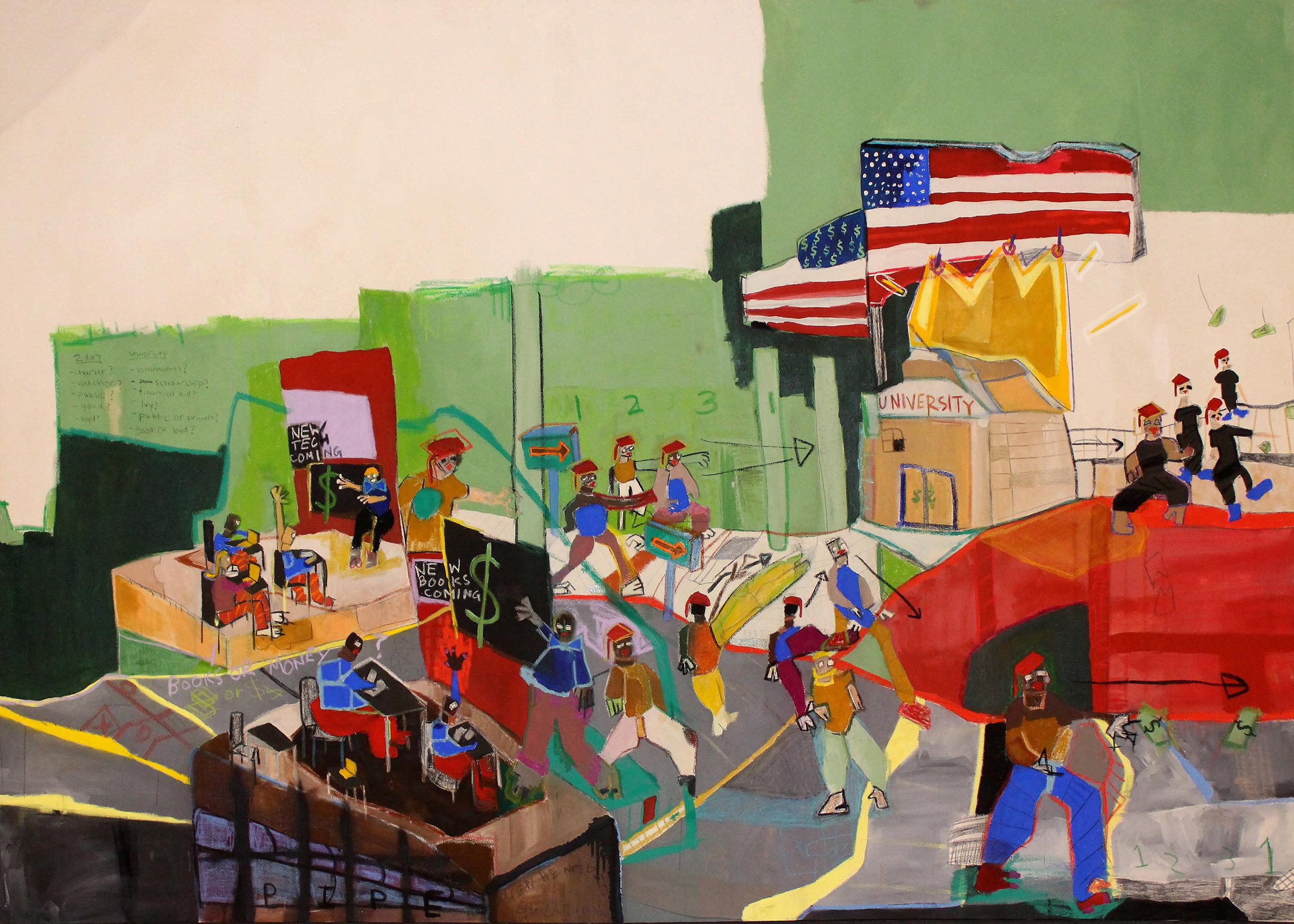 Income Inequality, Imagine Panel 2 8' x 5.5' Panel 2  ArtPrize 9 | Grand Rapids Art Museum