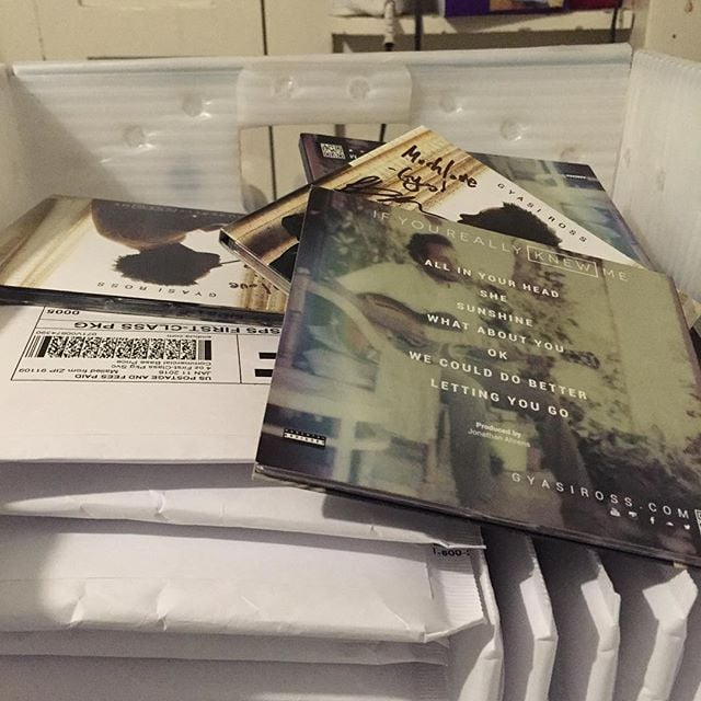 Mailing out a bunch of records to some amazing folks that supported #ifyoureallyknewme via #kickstarter thanks for the love family.