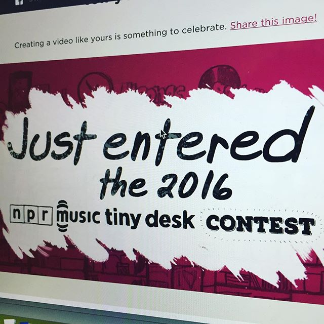 That moment when you enter the tiny desk contest! @nprmusic #tinydeskcontest #nprtinydeskcontest #nprmusic #npr check my YouTube for vid