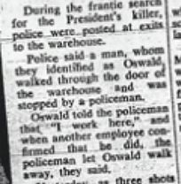 From the Sydney Morning Herald. This initial account of the assassination quotes an un-named police source now known to be Det. Hicks