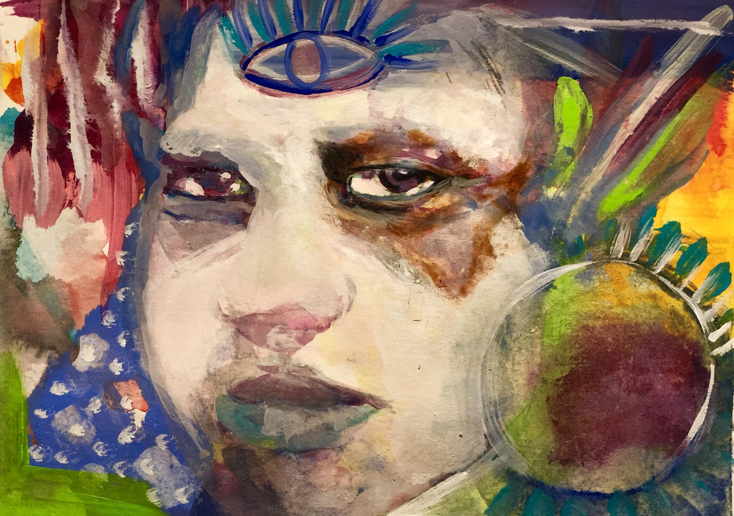 Peace   Acrylic, mixed media on paper  9.5 x 11   200    Giclee 70