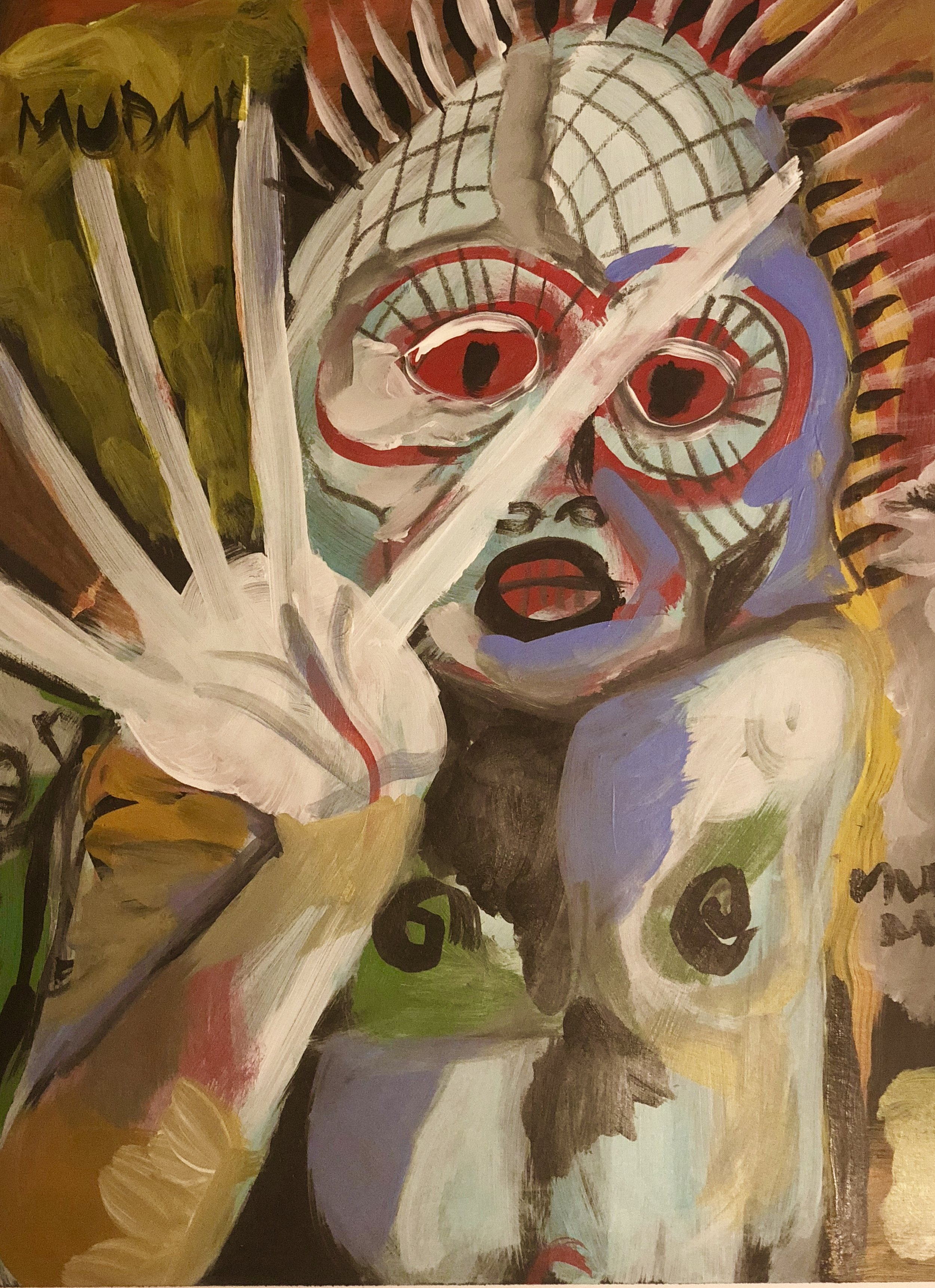 Mudman   Acrylic on paper  16 x 24   $225