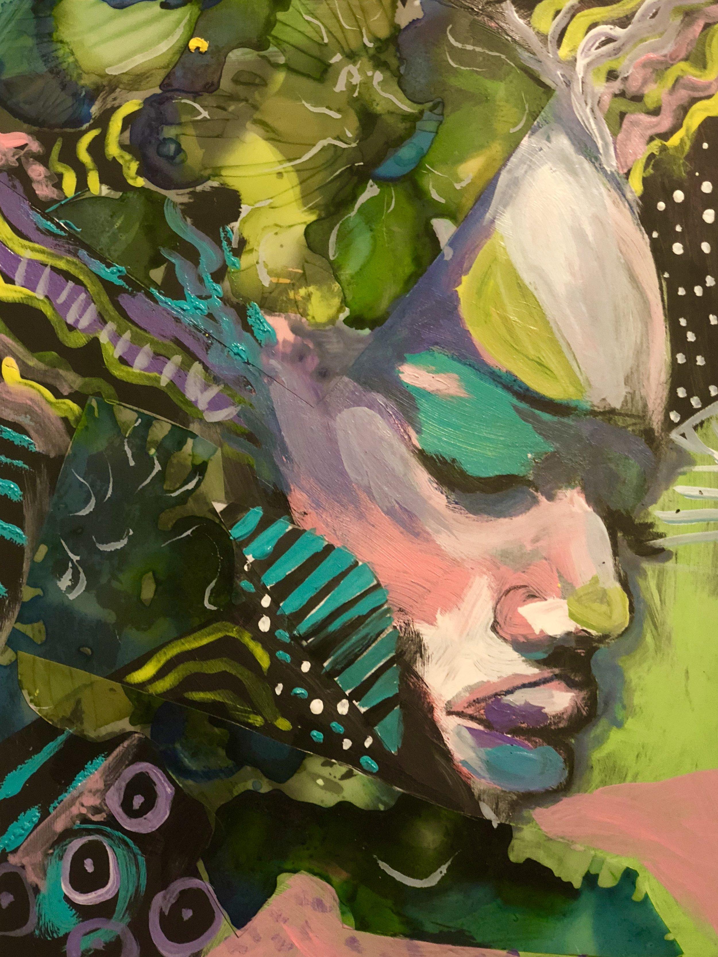 Amazon   Acrylic mixed media on paper  9.5 x 11   $200    Prints available