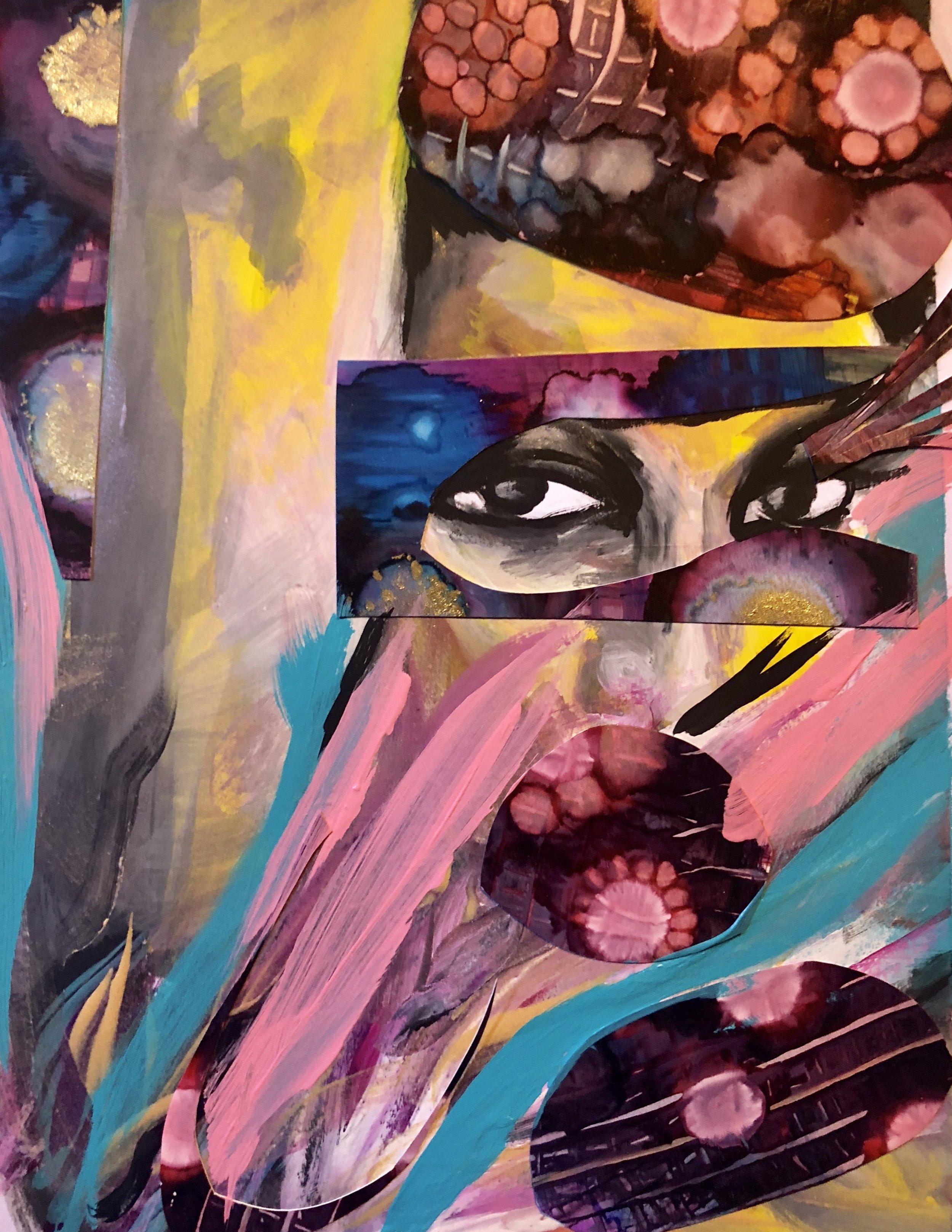 Flamingo   Acrylic mixed media on paper  9.5 x 11  200   Prints available