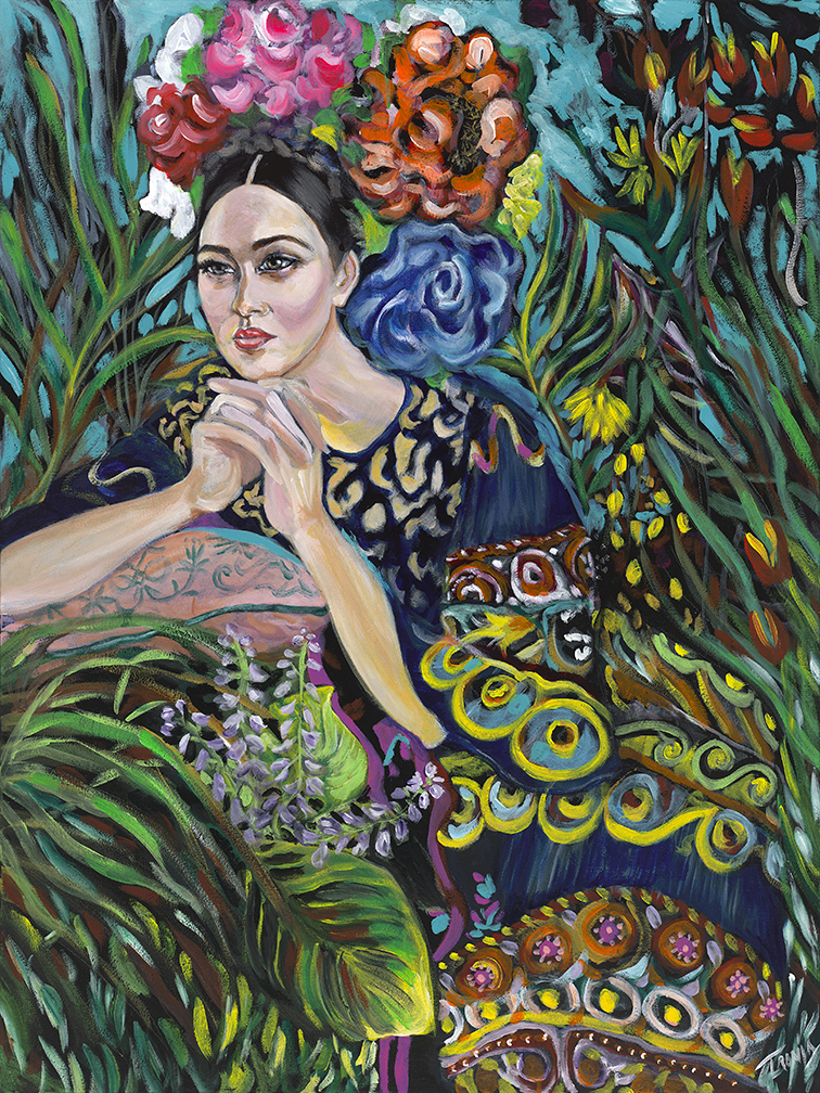 Secret Garden   Acrylic  on canvas  30in x 40in   $1800