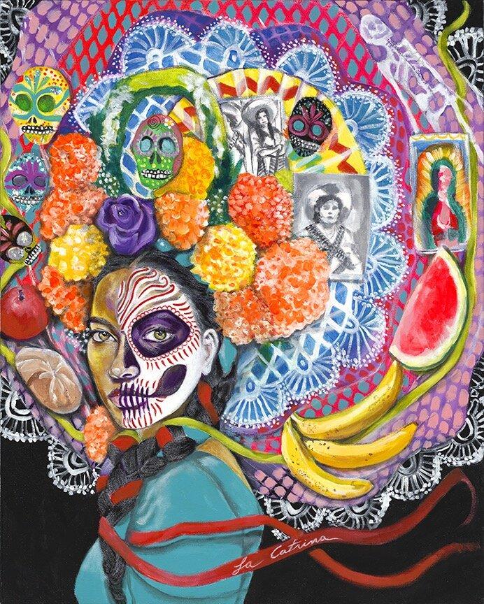 La Catrina   Acrylic on canvas  24 x 30   $950