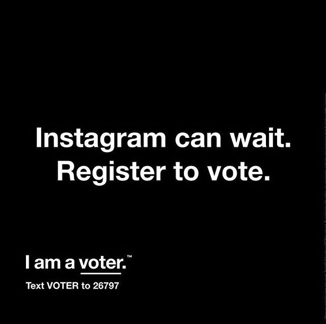 Today is voter registration day.  You can use the Text tool to make sure you are registered. The 2020 elections will include 1 President, 34 seats in the Senate, 435 seats in the House, 11 states and 2 territories will elect a governor, and 46 state legislative elections. We all have to show up to have a voice. #Iamavoter