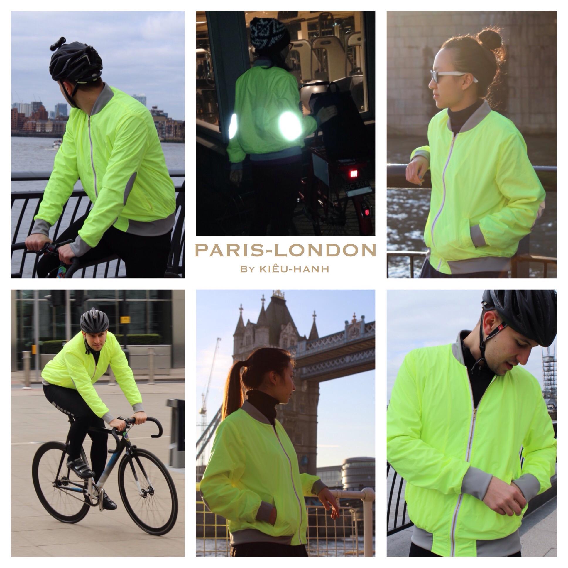 Hi-Vis Jacket Re-imagined For The Modern Cyclist, Runner & Adventurer. Designed in Paris. Made in England.