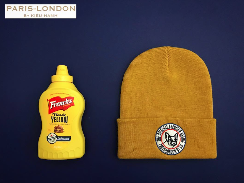 The Original Frenchie Beanie. Colour: French Mustard.