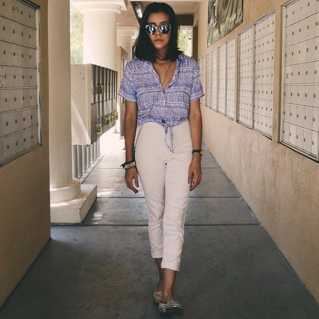 Indigo #ootd #lookbook #americanapparel #fashionblogger