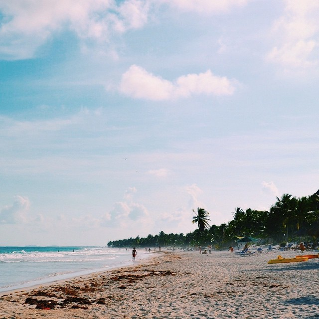 Wishing I was back laying on the beach in Tulum with a margarita in my hand and my man by my side @dr_karpel #cincodemayo #tulum