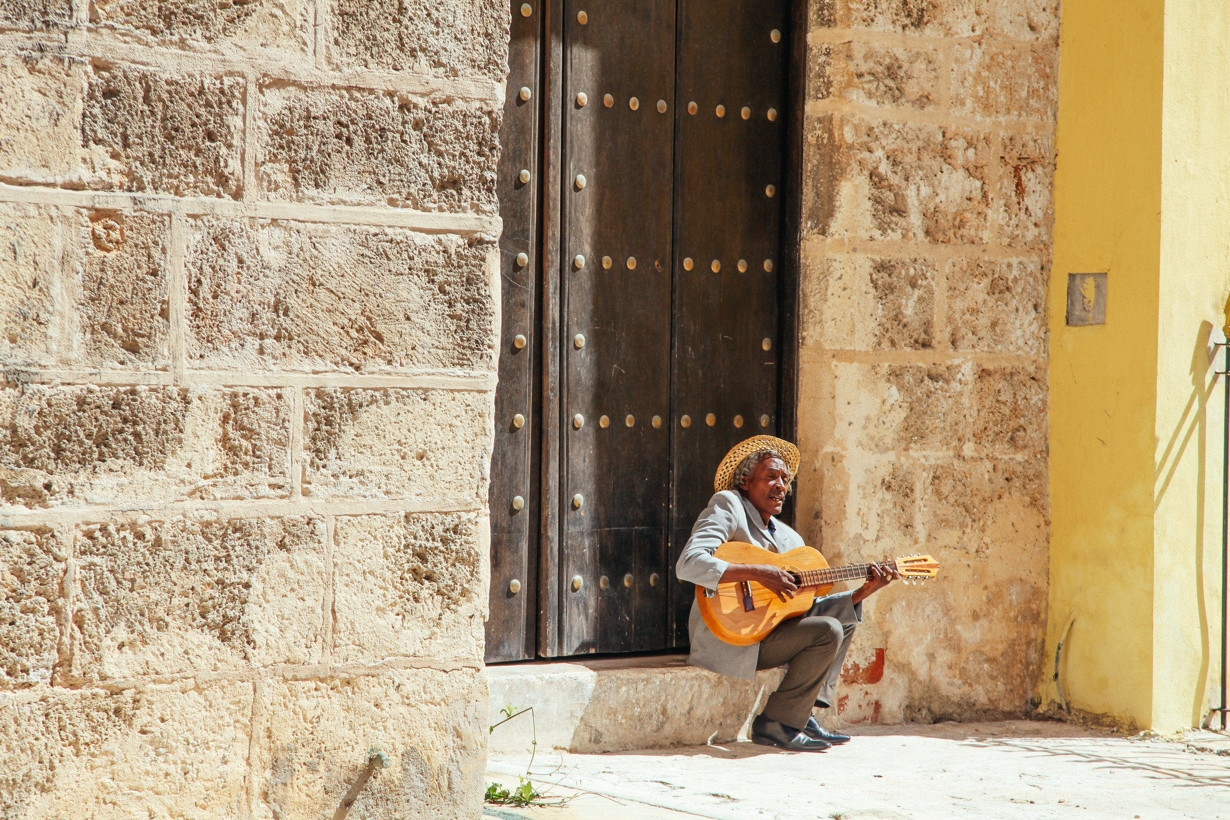 Street musician in Havana, Cuba. Photo by  Amanda Bjorn
