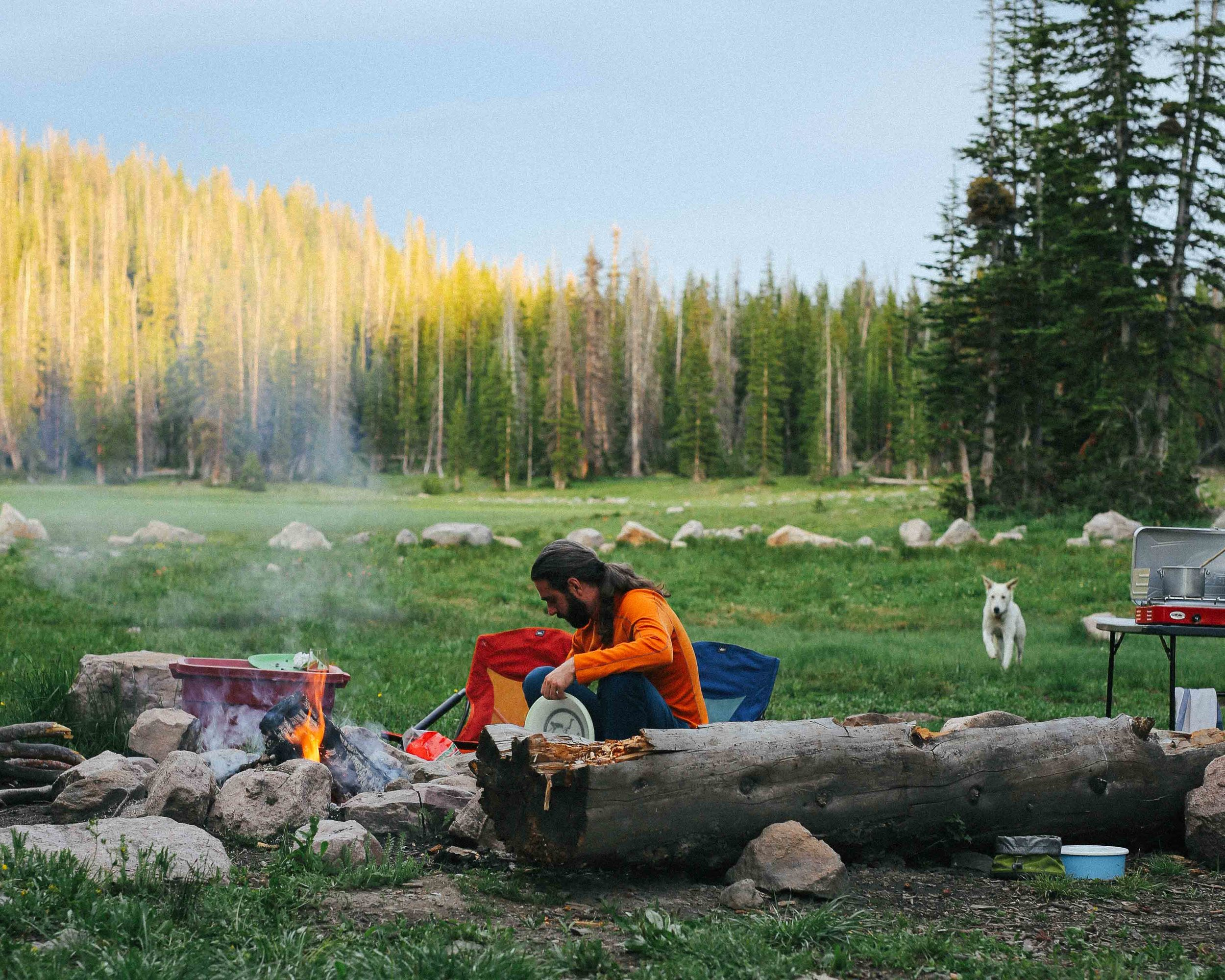 high uintas wilderness camping