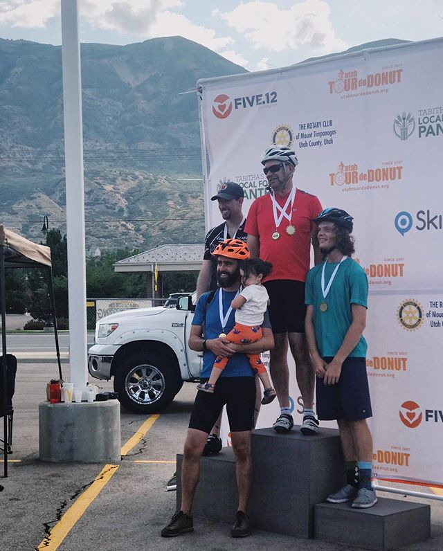 """A big round of applause for this guy and the rest of Team """"Glazed and Confused"""" for taking 2nd in this year's #tourdedonut - we are very proud of you @richard_stillwagon and very happy you didn't beat the all time record for most donuts consumed (can't remember if it was 42 or 47, but either way 🤢)"""