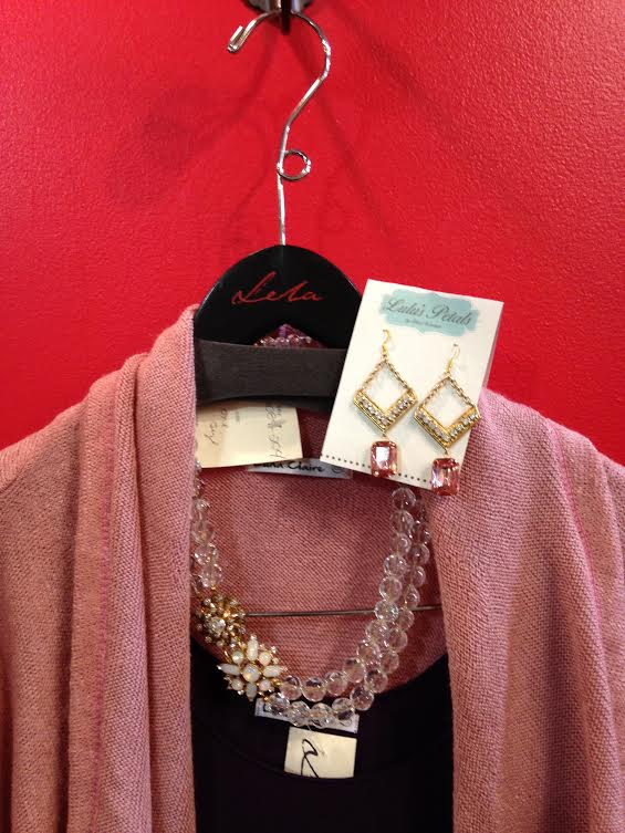 Lulu's Petals Necklace: $92   Lulu's Petals Earrings: $44