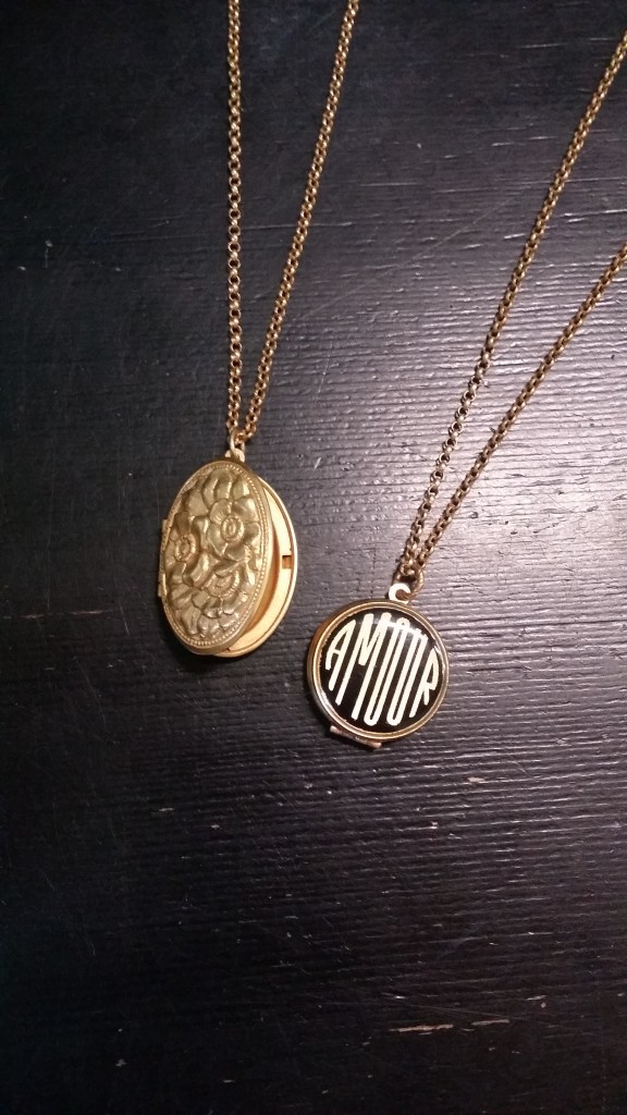 (Left) Large Oval Lockets:  $54   (Right) Amour Lockets:  $70