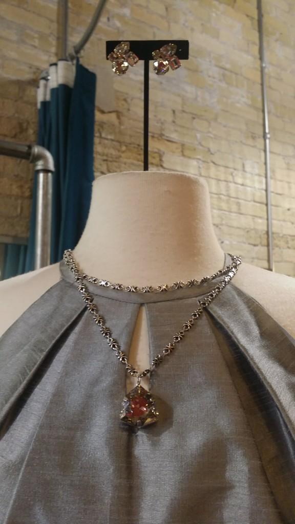 La Vie Gem Necklace : $116   La Vie Gem Clip Earrings : $114