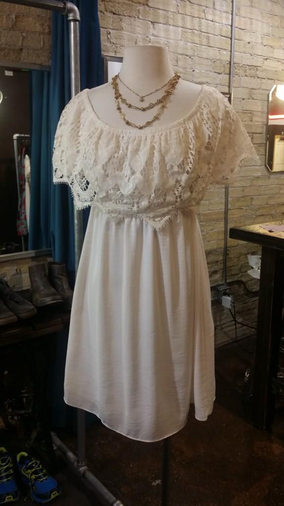VaVa by Joy Han Dress : $72, sizes S-L   La Vie Golden Layered Necklace : $80   La Vie Tiny Gem Choker : $52