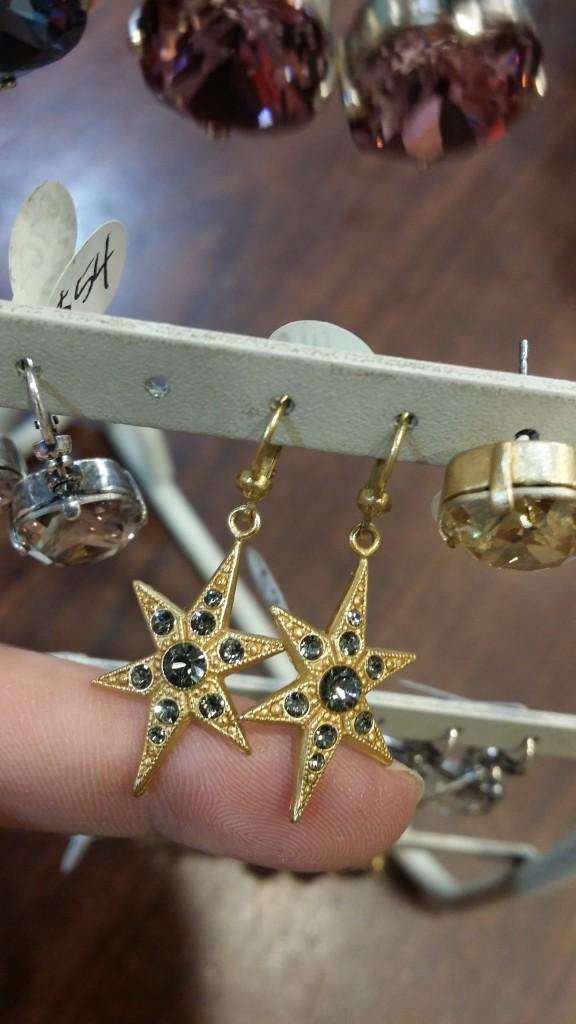 Gold Star Earrings: $53