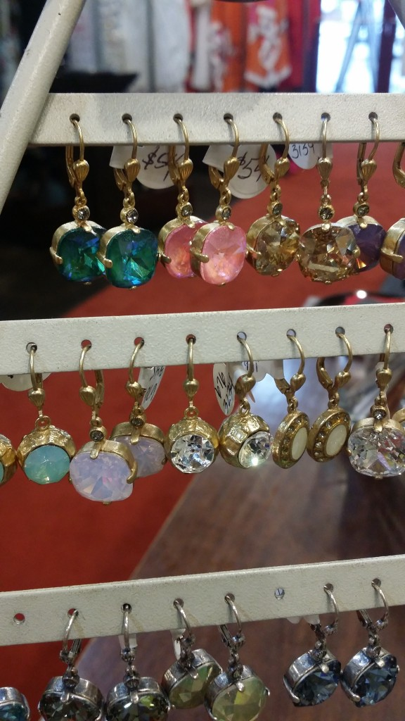 Signature La Vie Dropped Crystal Earrings (available in multiple colors and casts): $54