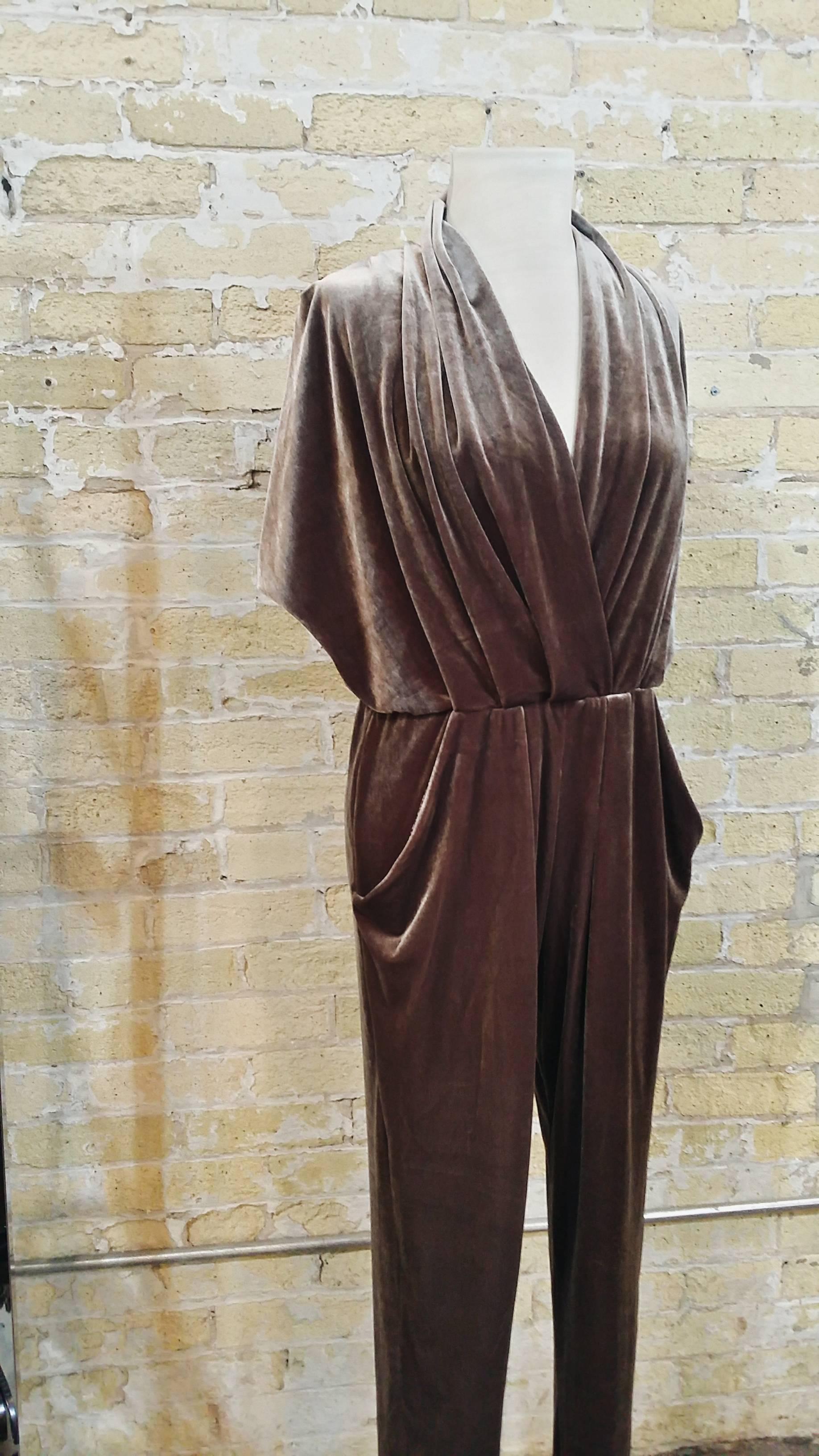MEG Velvet Jumpsuit: $260 (available in other colors)