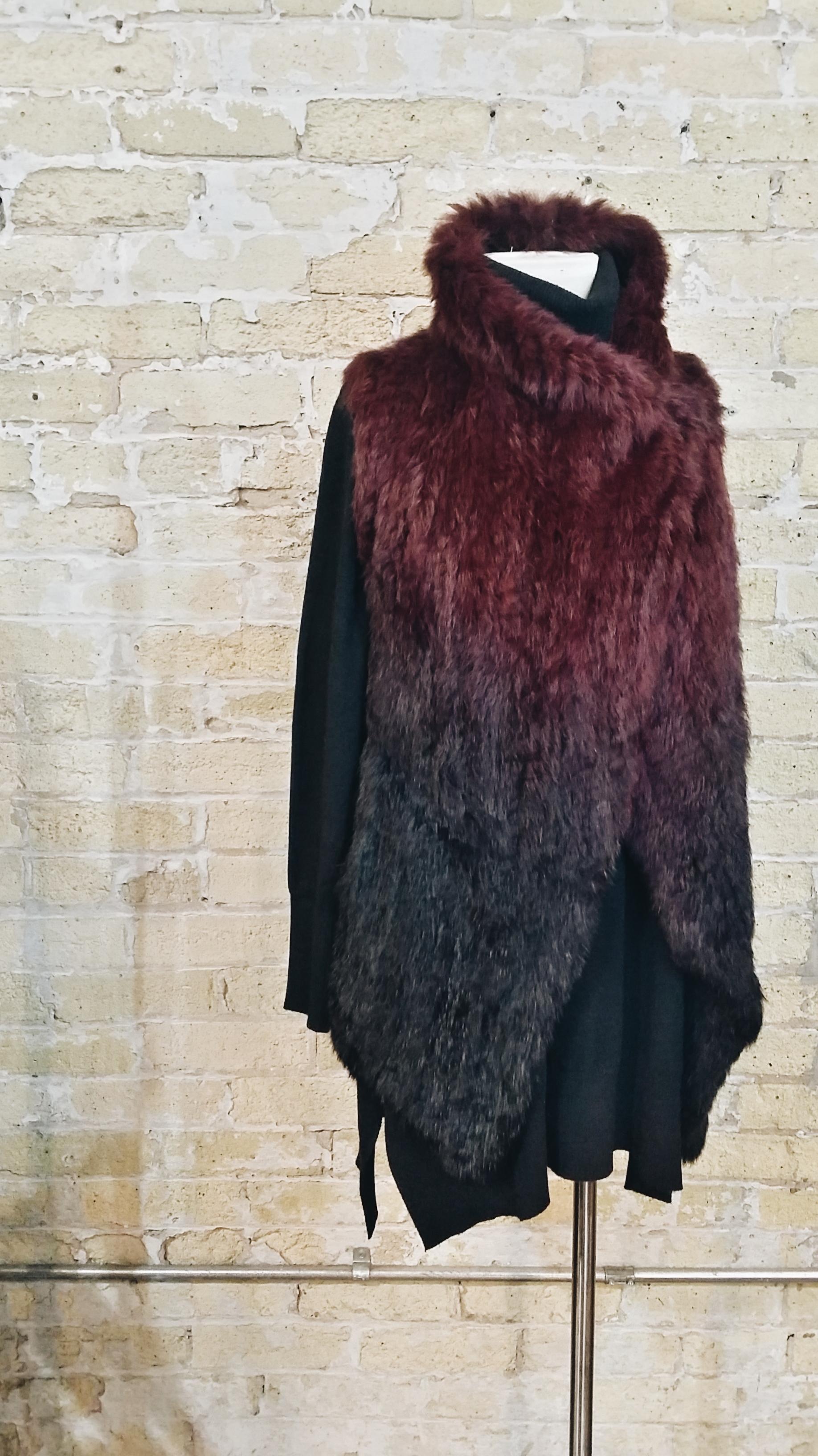 Ombre Angora Fur Vest: $492