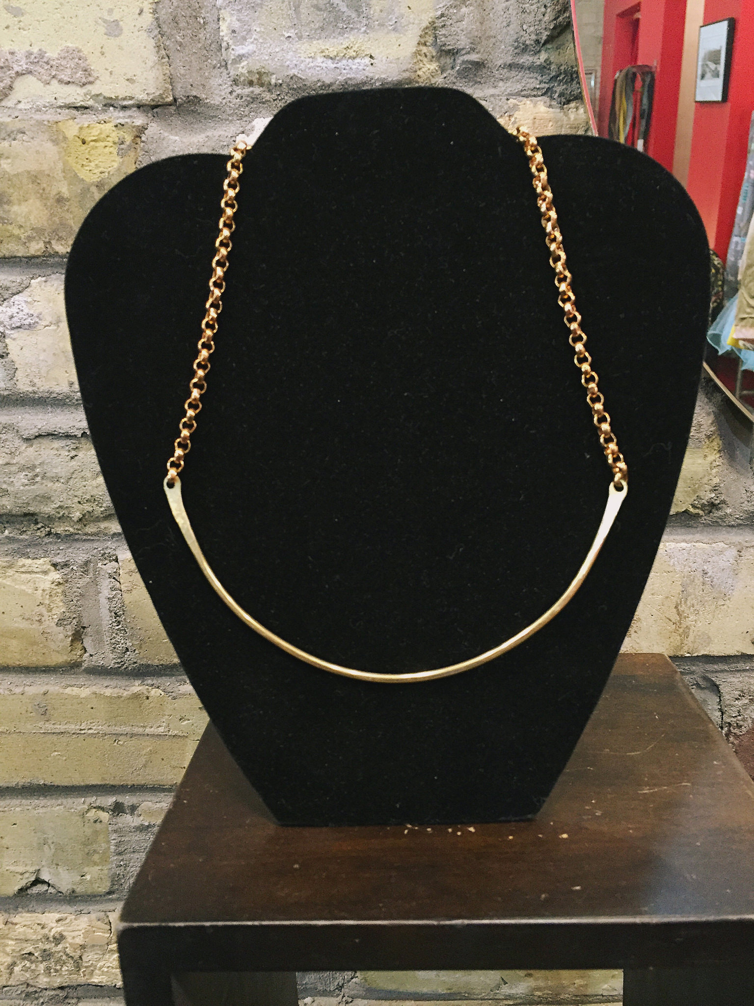 Brass collar, $72