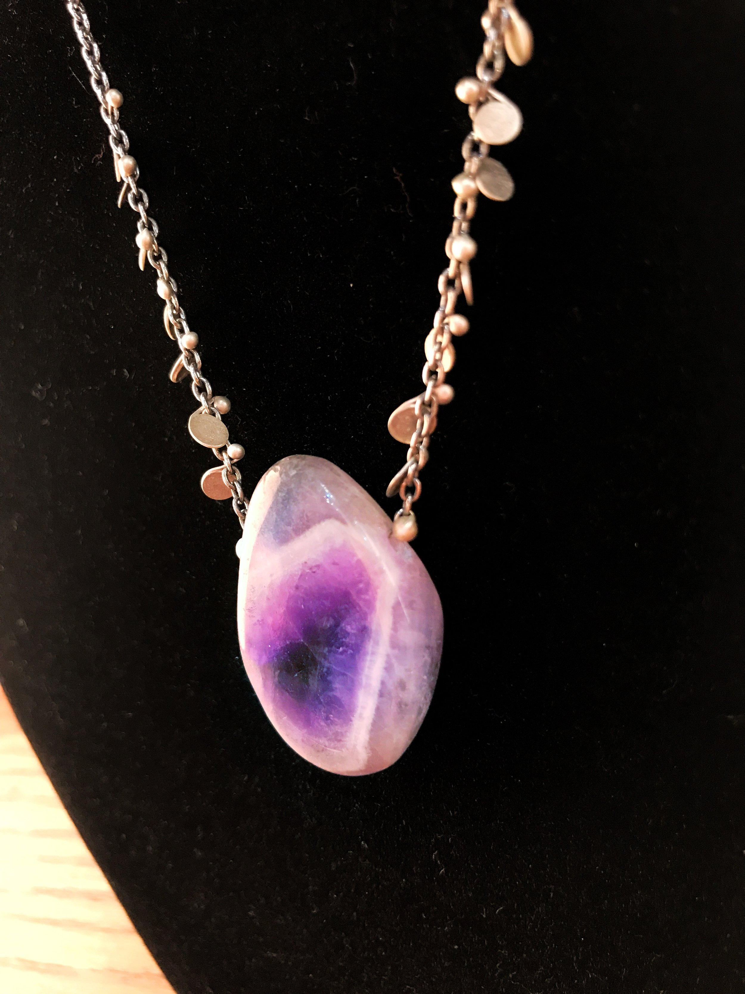 Purple agate necklace, $58.50 (regularly $78)