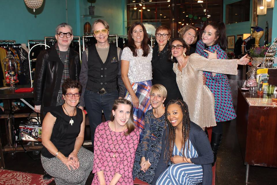 15 YEARS OF FASHION - Store anniversary party, 10/15/18    Top Row:  One of our favorite designers, Samuel Dong; Bjorn; Susan; Julia; Jen; Arrie; Kaitlin  Bottom Row:  Carrie; Jill; Debbie; Aja