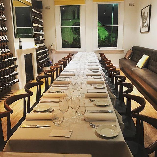 Table for 22. #privatedining heaven #byo7nights #souffle #woollahra #sydneybyorestaurants #frenchbistro