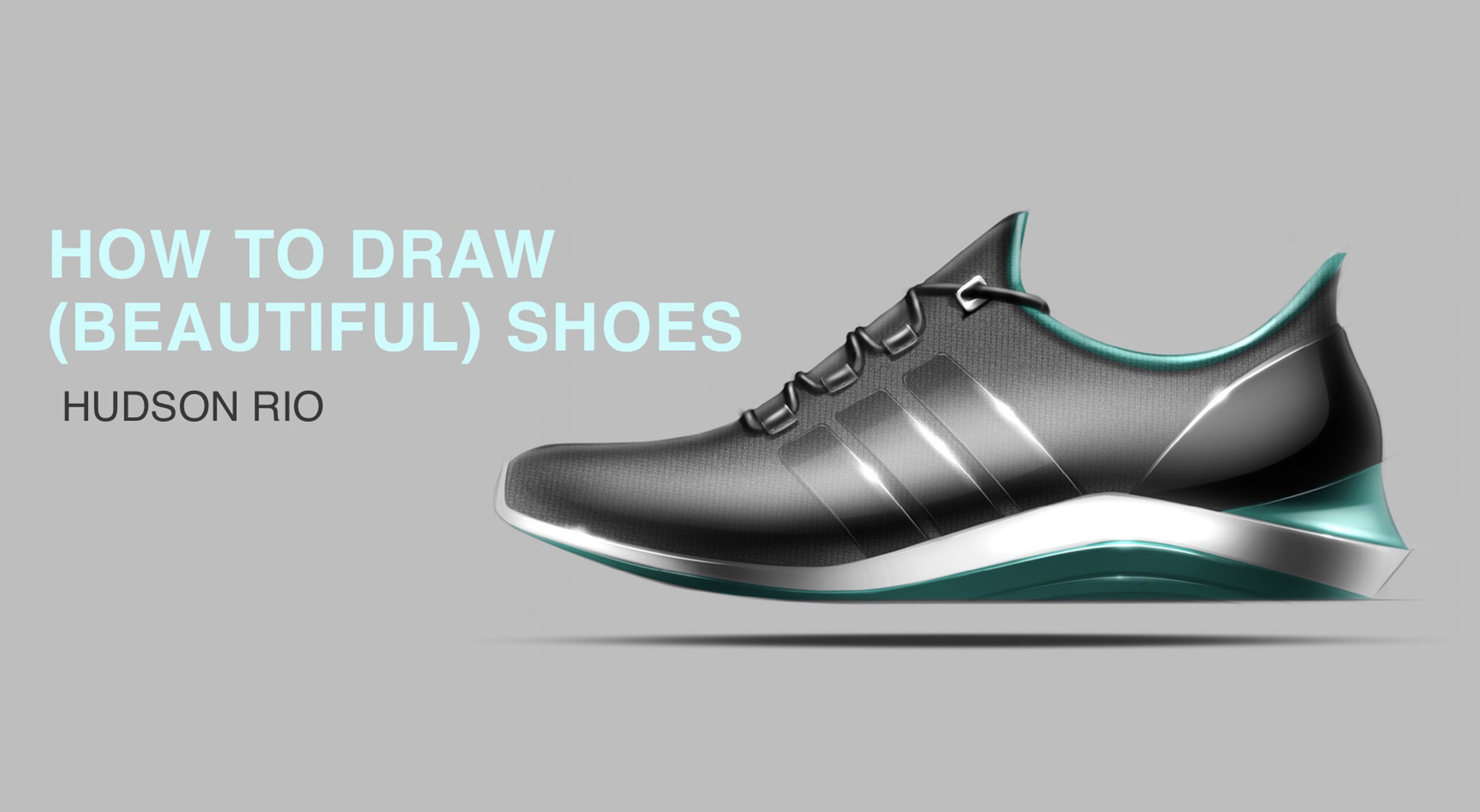 Shoe Tutorial - See my step-by-step process from thumbnail sketch to final render.