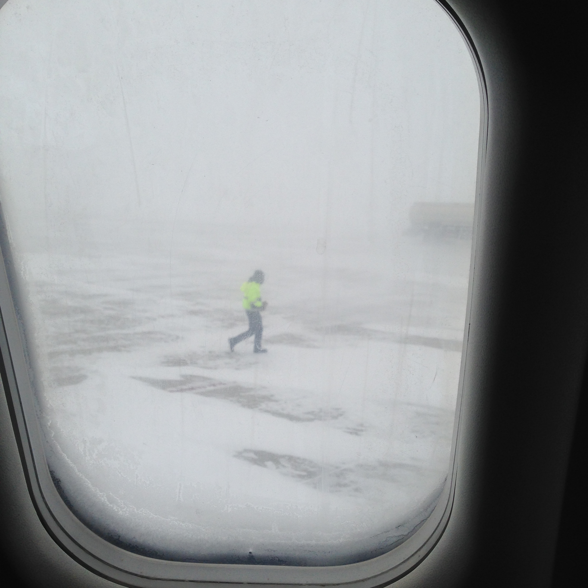 Rochester, Minnesota - January 8, 2015 - Landing just as a blizzard starts
