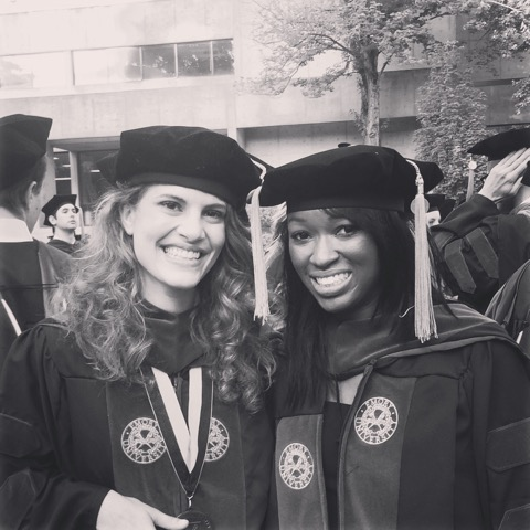 Natalie and Elyse at Emory University School of Medicine Commencement 2015
