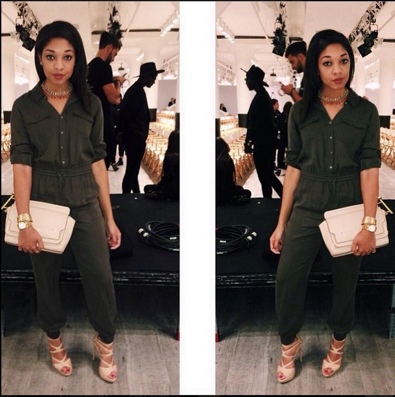 Angela Simmons x Harlem Globetrotters NYFW   NYC - 2015