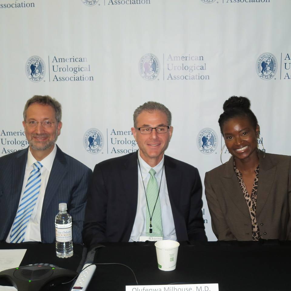 Dr. Fenwa Milhouse - female urologist - at American Urology Association press conference