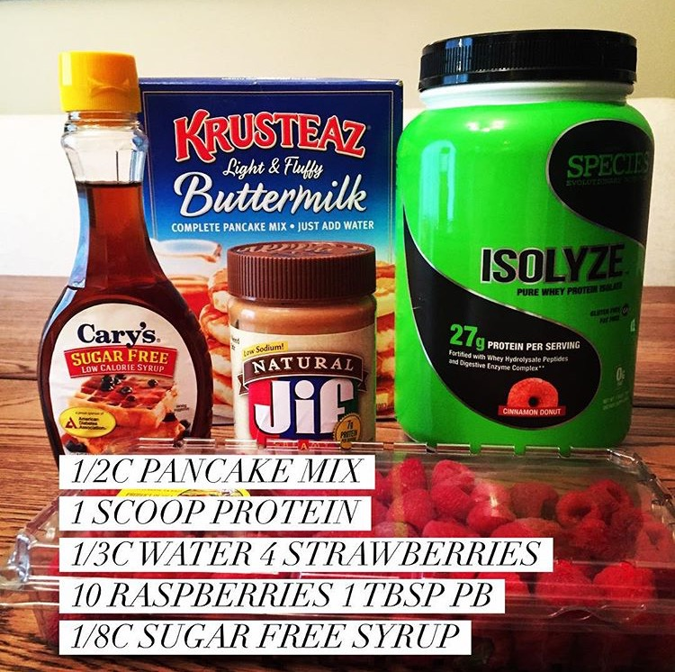 Ingredients and recipe for delicious protein pancakes