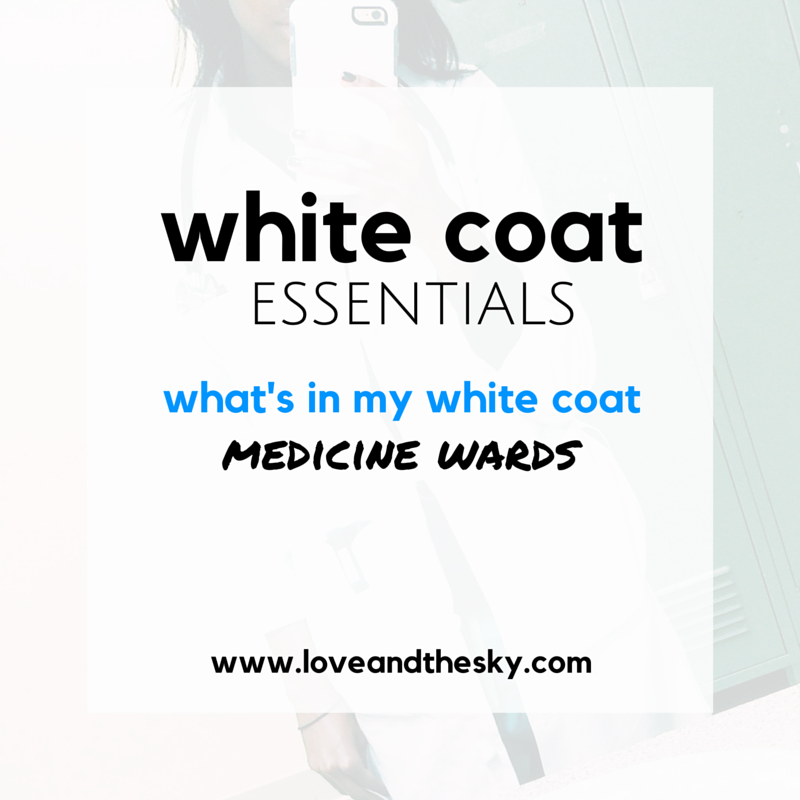 White coat essentials - what's in my white coat