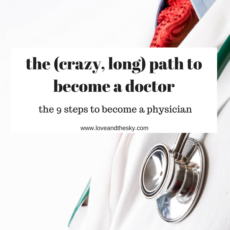 The crazy, long path to become a doctor - the 9 steps to become a physician