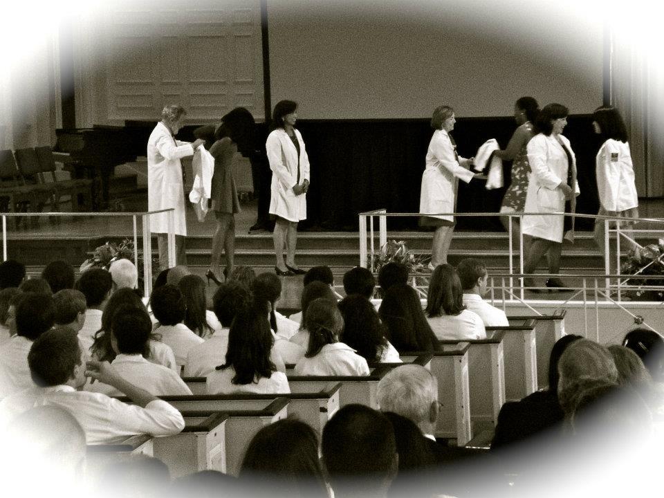 Career profile - Elyse Love, MD - dermatology resident at her Emory medical school white coat ceremony
