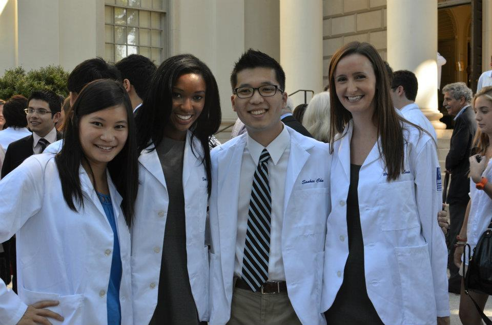 Emory medical students at white coat cremony - Elyse Love, MD - career profile