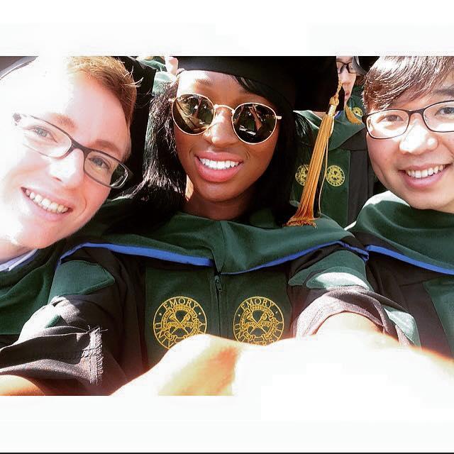 Emory medical students at graduation