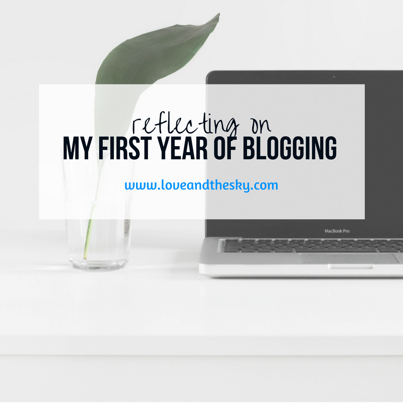 Reflecting on my first year of blogging for Love and the Sky
