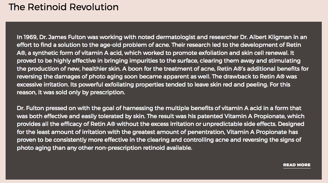 Dr. Fulton - the retinoid revolution - vivant skin care review